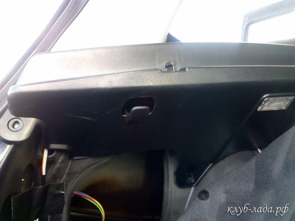 левая полка багажника Калина 2
