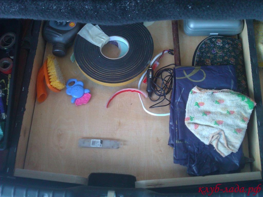 Установка фальшпола в багажник Калина 2 хэтчбек (ВАЗ 2192)