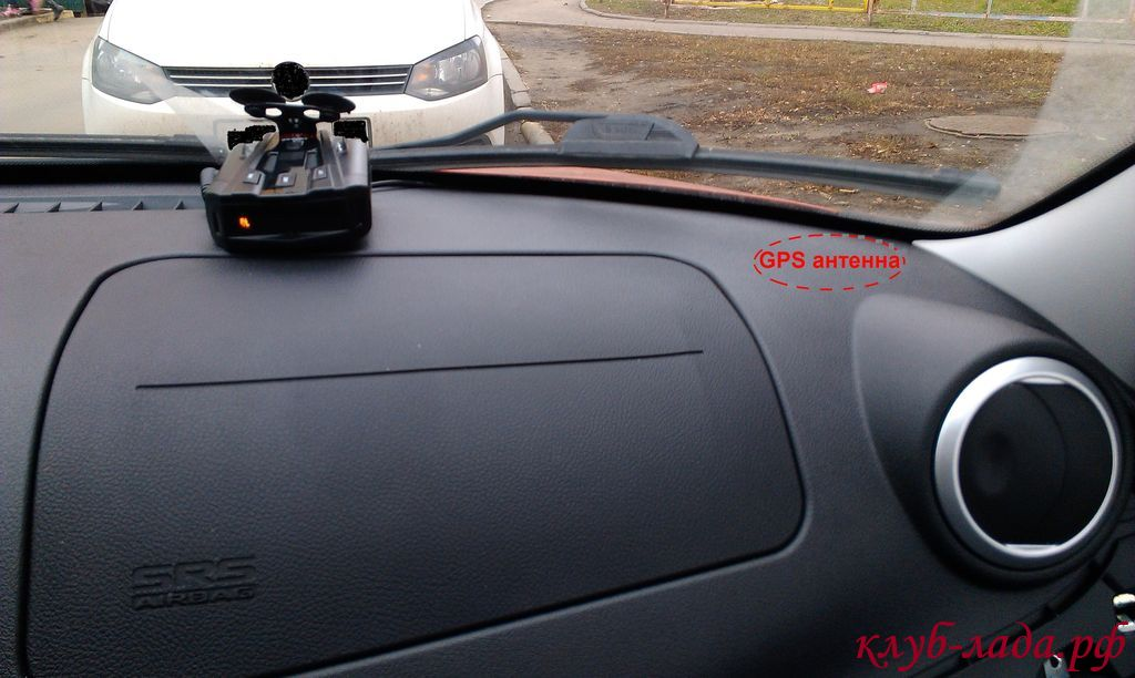 Установка GPS антенны в Калина 2