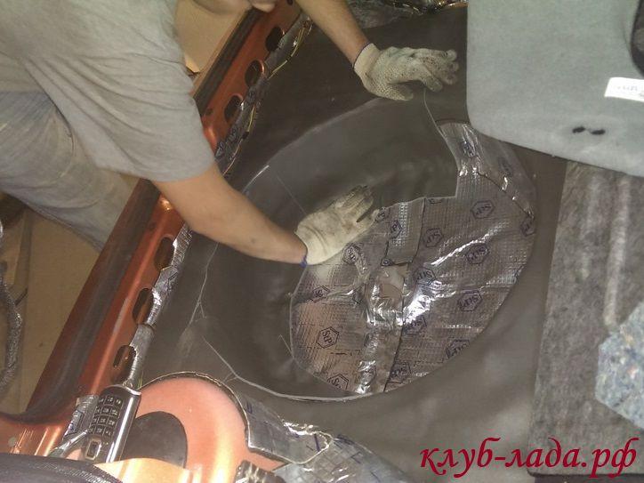 второй слой шумоизоляции багажника калина 2