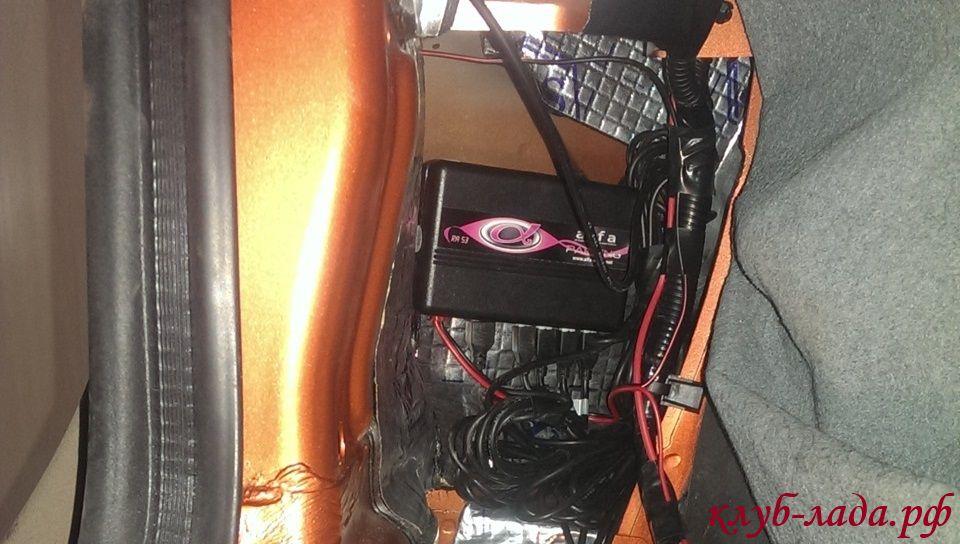 установка блоку управления парктроником в багажник Калина 2