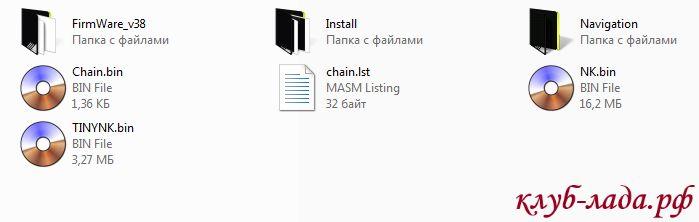 Распаковать содержимое архива в корень SD карты