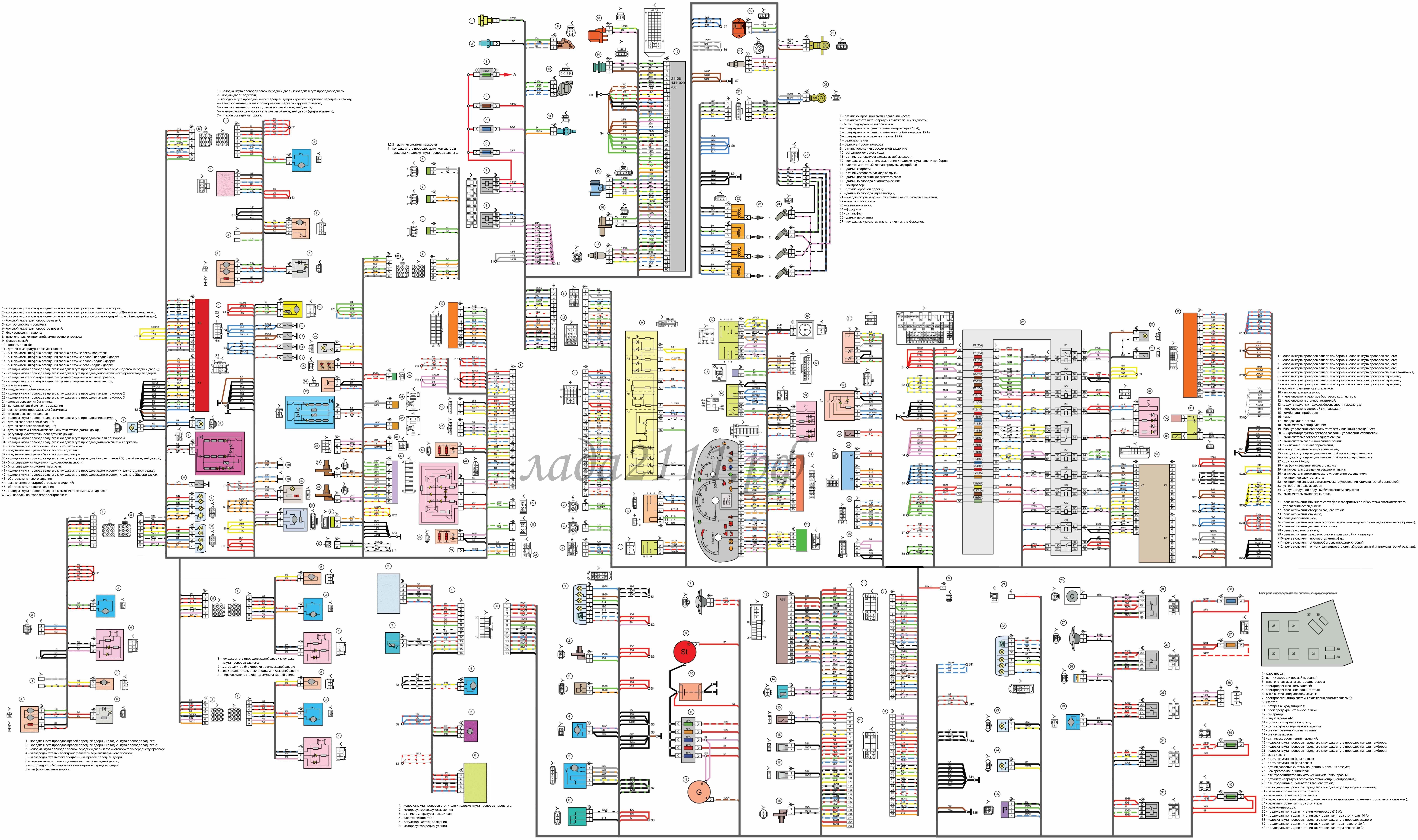 Схема электропитания лады приора