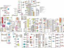 Электрическая схема электропроводки и электрооборудования Лады Приора (ВАЗ 2170)