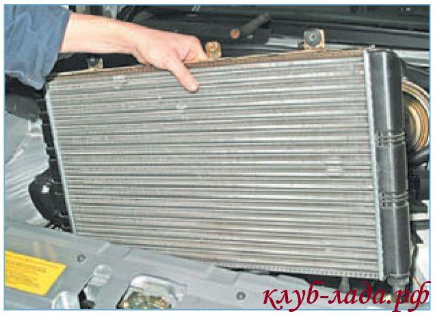Как заменить радиатор охлаждения на приоре с кондиционером