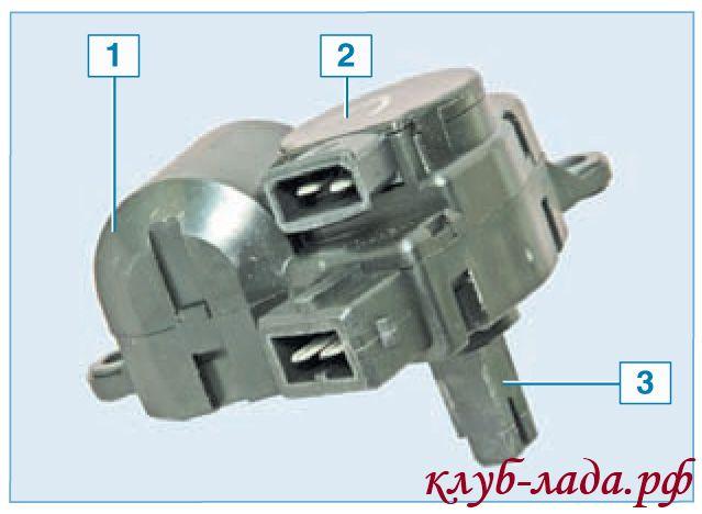 Микромотор-редуктор заслонки отопителя ЛАДА Приора