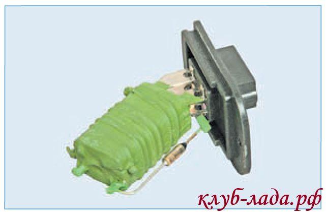 Дополнительный резистор отопителя ЛАДА Приора