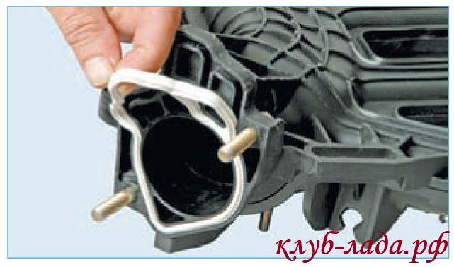прокладка дроссельного узла приоры