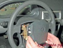 Снятие подушки безопасности водителя Приоры