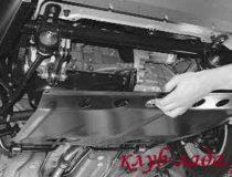 Снятие защиты двигателя Приоры