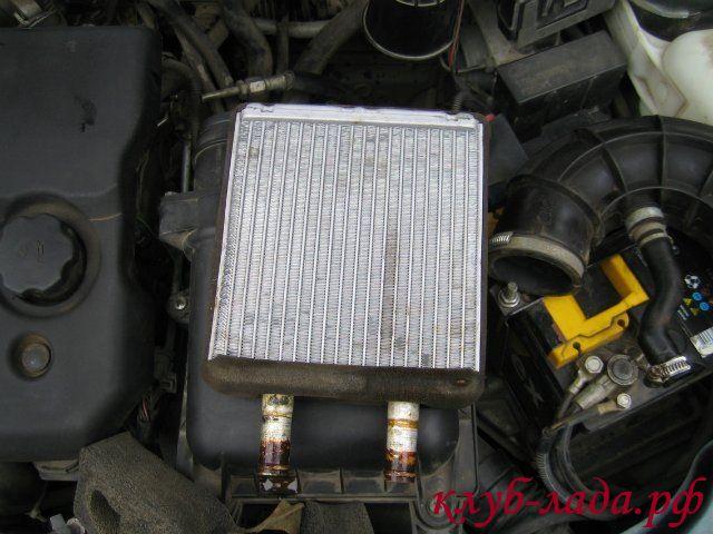 Замена радиатора печки Приоры с кондиционером HALLA