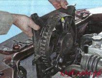 Замена вентилятора охлаждения двигателя Калины и Гранты