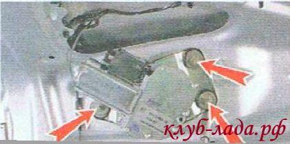 Отвернуть 3 гайки крепления мотор-редуктора