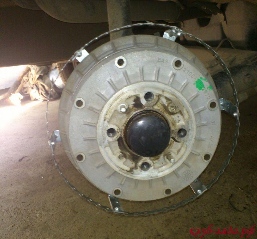 установка светодиодной ленты на тормозной барабан