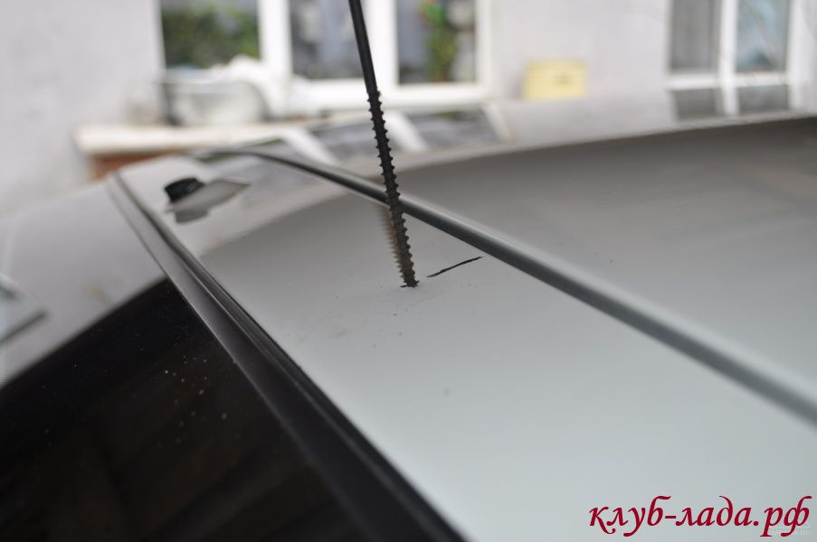 установка спойлера на Приора хэтчбек (от купе ВАЗ 2112)