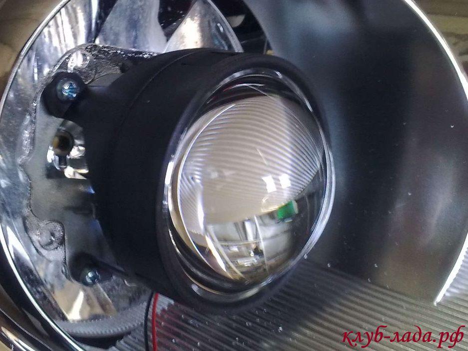 установка би-линз в фары приоры