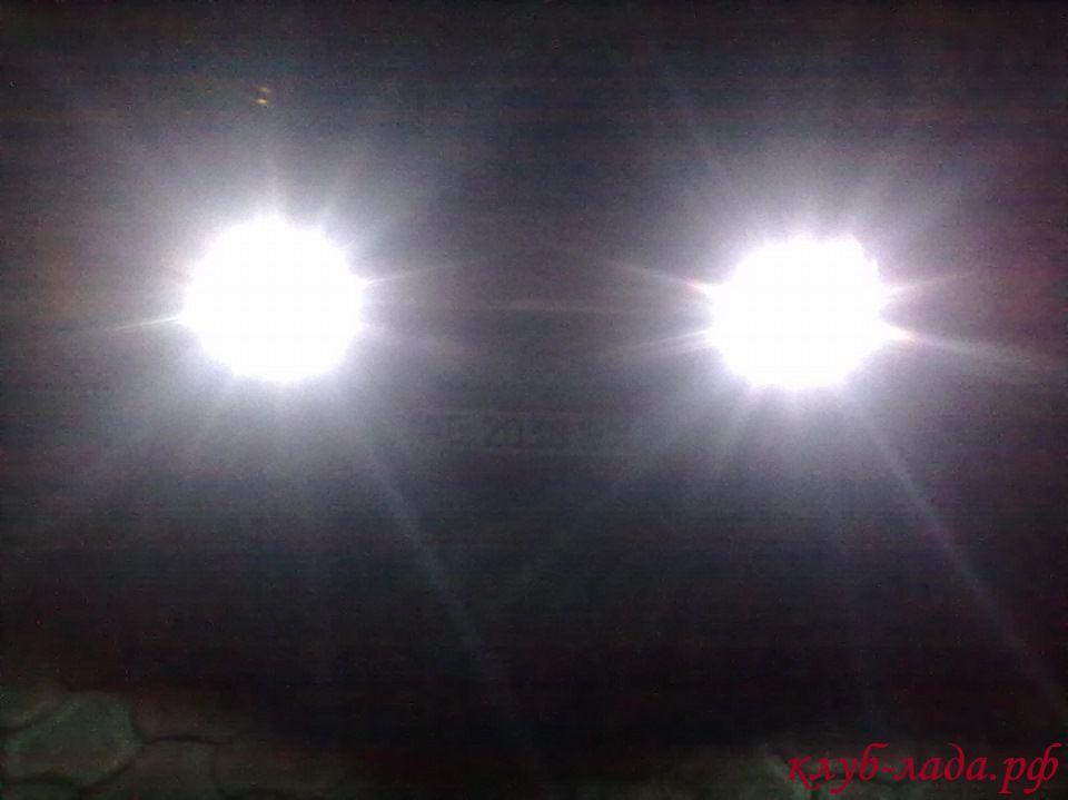 LED в габаритах Приоры (кукуруза)