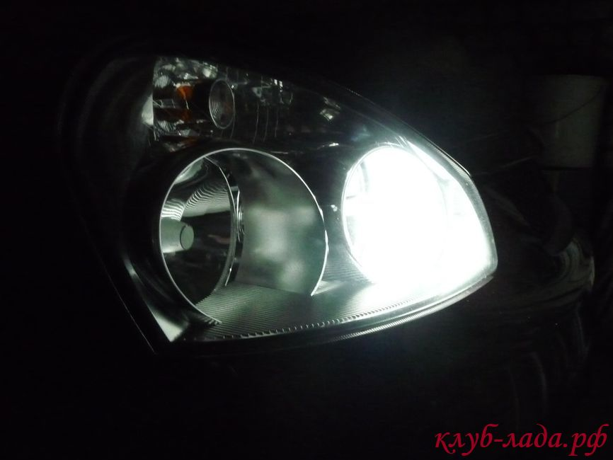 Установка светодиодов в габариты Приоры