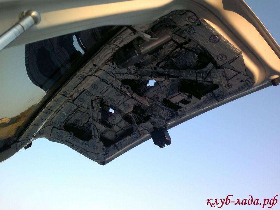 шумоизоляция крышки багажника приора хэтчбек