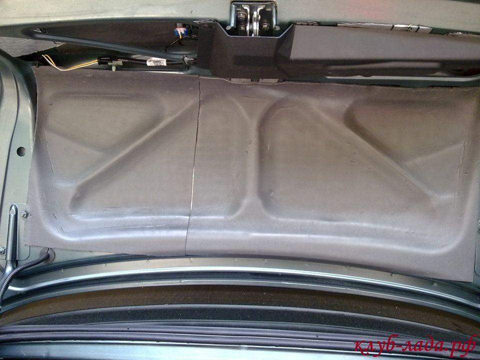 второй слой шумоизоляции багажника приоры (сплен)