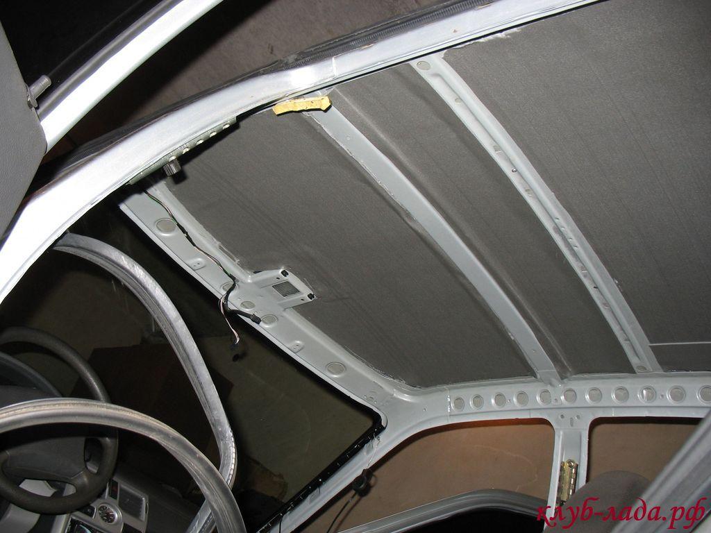 установка сплена на потолок приоры