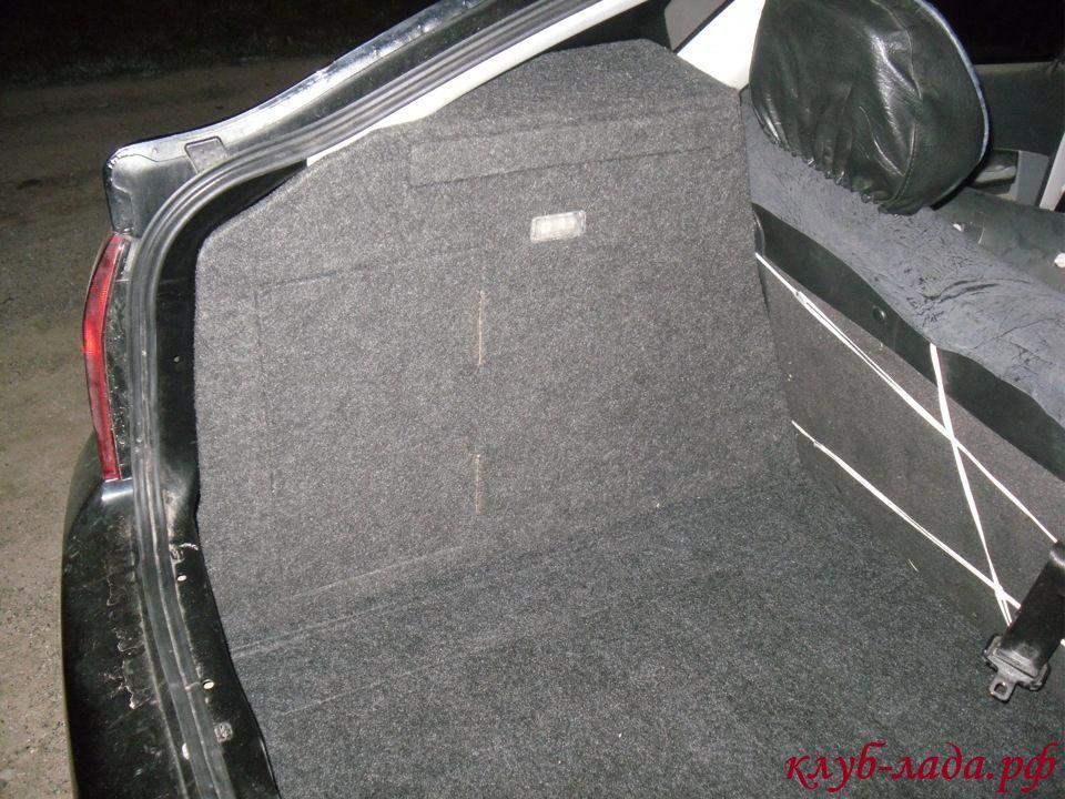 светодиодные лампы в плафоне багажника Приоры