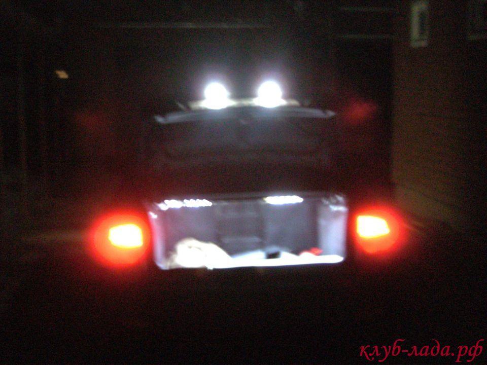 установка светодиодной ленты в багажник приоры