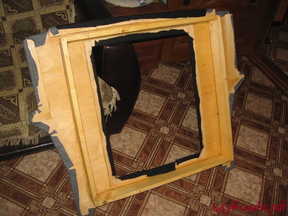 изготовление фанерного дна багажника