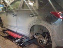 Замена зимних шин на летние у Mazda CX-5